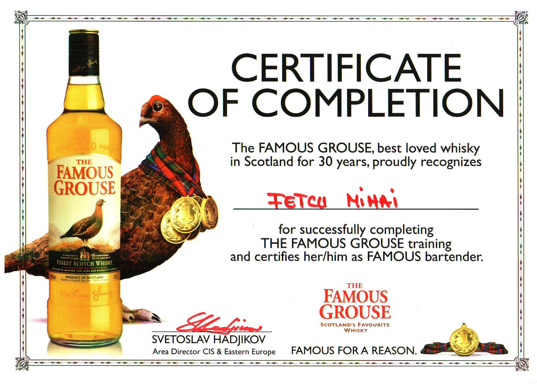 G_certificate of completion Famous GROUSE 2011