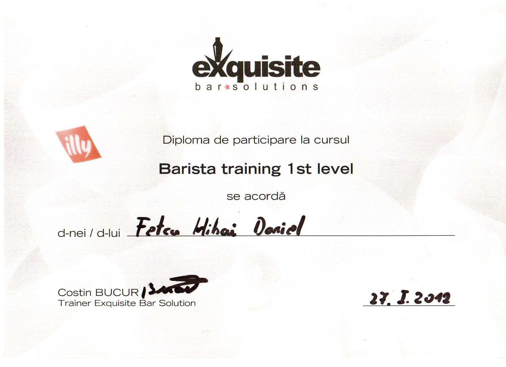 I_Barista training 1 st level_2012