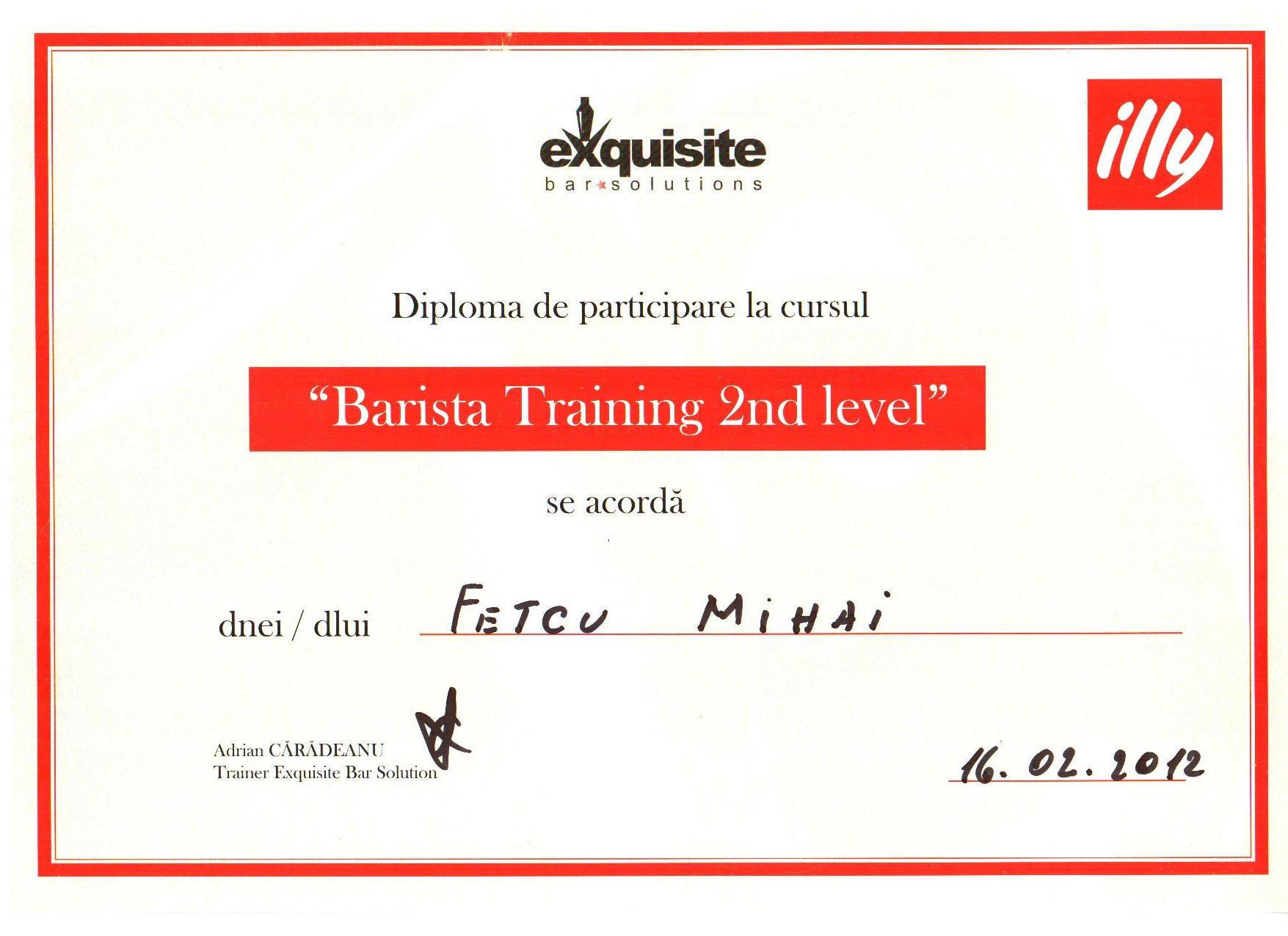 J_Barista training 2 nd level_2012